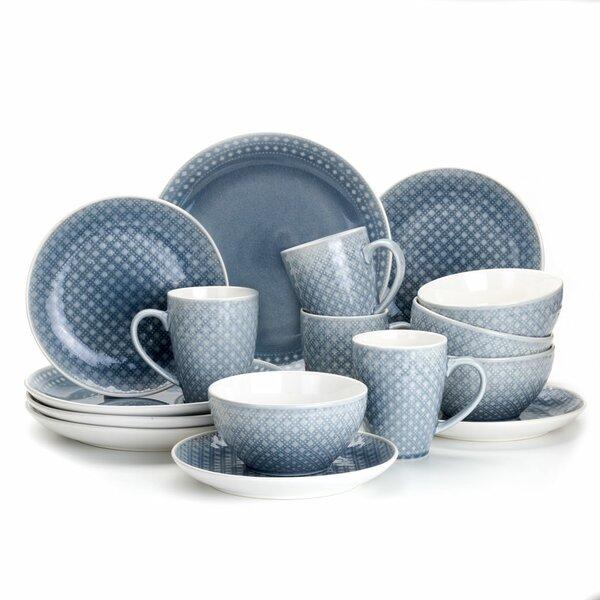 Palma 16 Piece Dinnerware Set, Service for 4 by Euro Ceramica