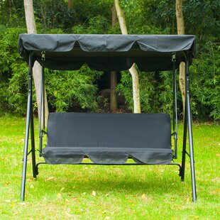 Katelynn 3 Person Canopy Porch Swing & 2 Person Canopy Swing | Wayfair