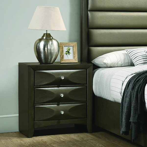 Fodor 3 Drawer Nightstand by Winston Porter
