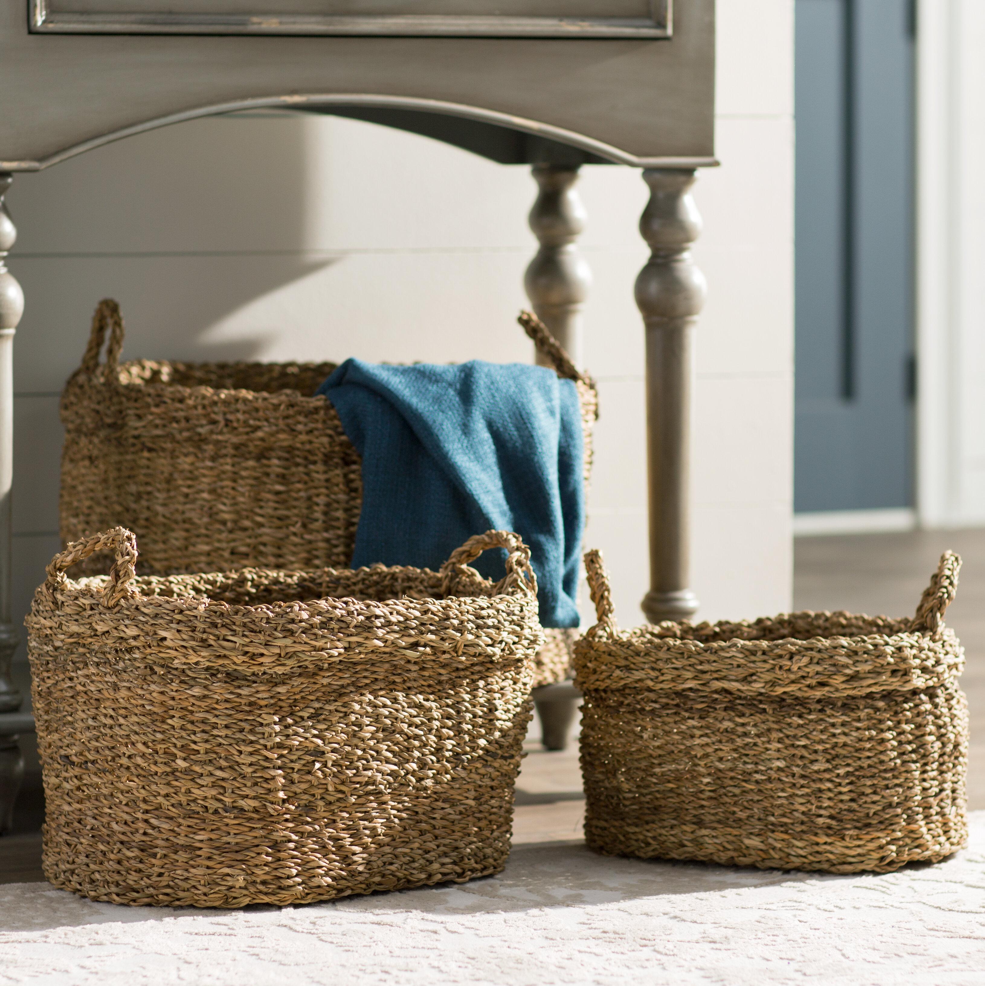 Birch Lane™ Plymouth Seagrass Oval Baskets & Reviews | Birch Lane