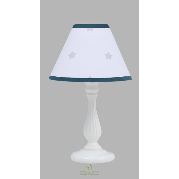 8 H Linen Empire Lamp Shade ( Uno ) in Gray/Blue/Pink