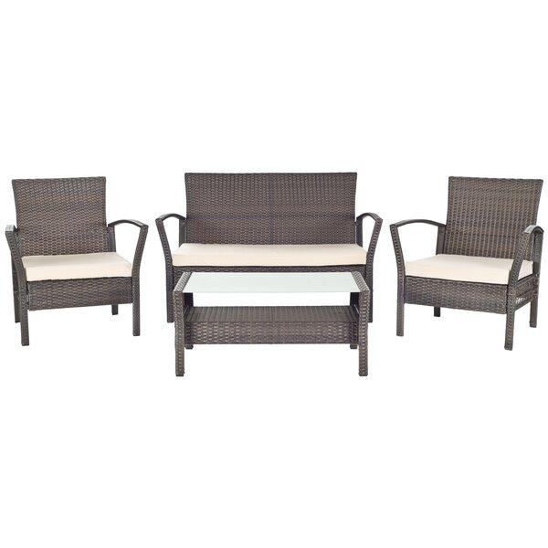 Avaron 4 Piece Sofa Set with Cushions by Safavieh