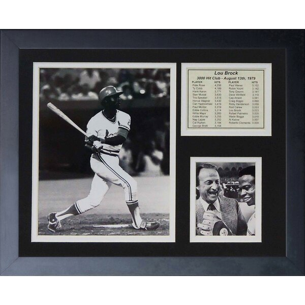 Lou Brock Framed Photographic Print by Legends Never Die