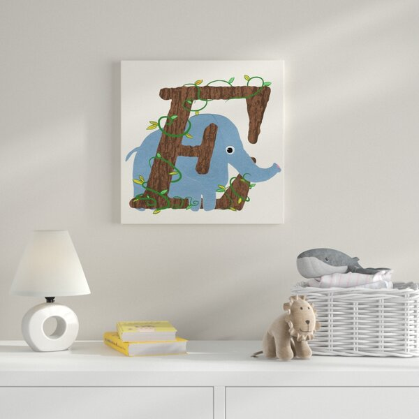 E Framed Graphic Art on Wrapped Canvas by Zoomie Kids