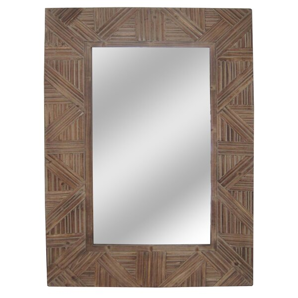 Darrie Rectangular Brown Wall Mirror by Bungalow Rose