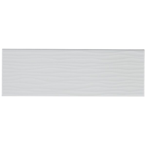 Berkeley 4 x 12 Ceramic Subway Tile in Matte Arctic White by Itona Tile