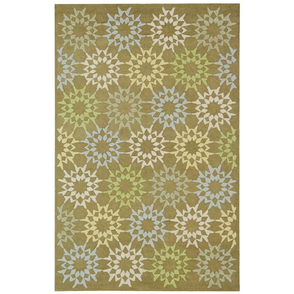 Martha Stewart Hand-Hooked Cotton Pebble/Gray Area Rug by Martha Stewart Rugs