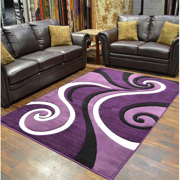 Mccampbell 3D Purple Area Rug by Ivy Bronx