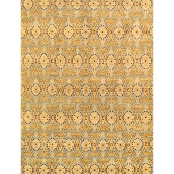 Ikat Beige Transitional Decorative Area Rug by Pasargad