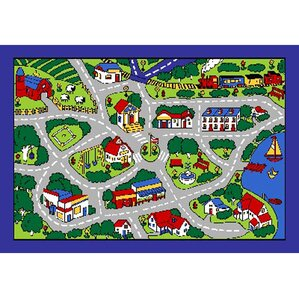 Elegant Street Map Area Rug