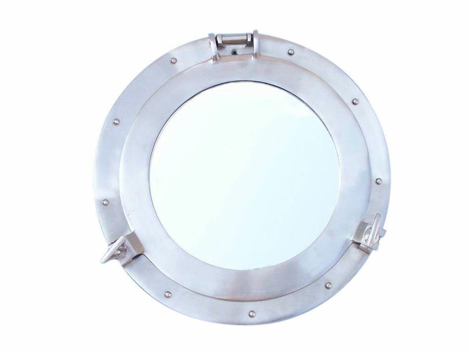 oblong ships s nautical window aluminum chrome windows ship oval finish porthole decor mirrors