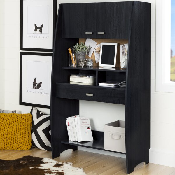 Reevo Armoire Desk with Hutch by South Shore
