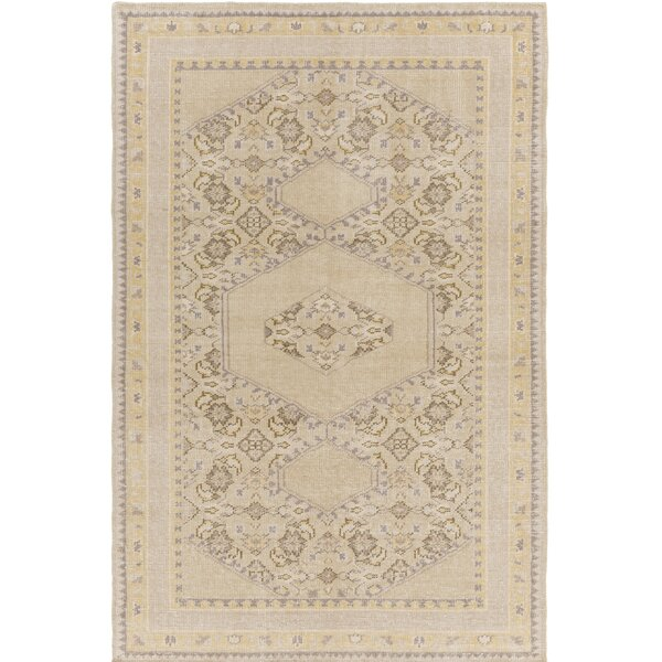 Palko Hand-Knotted Neutral Area Rug By One Allium Way.