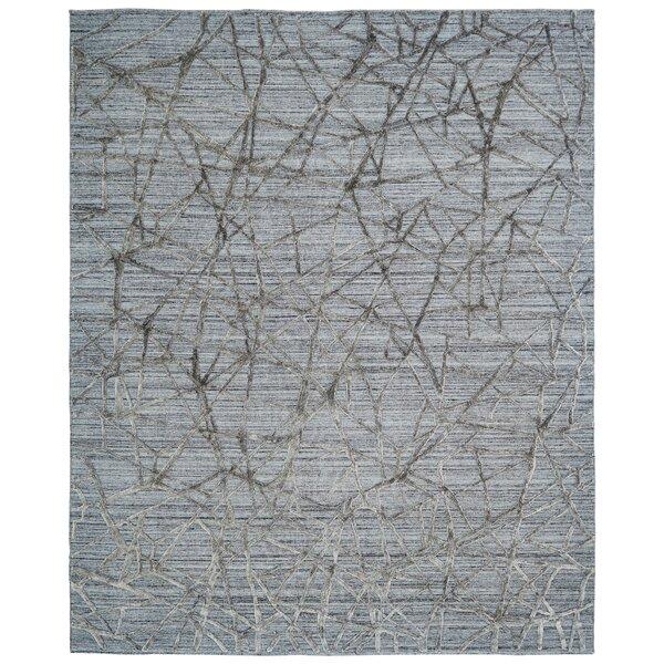 Morro Geometric Handmade Hand-Loom Gray Area Rug