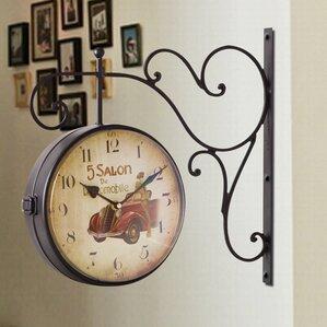 retro round wall hanging clock