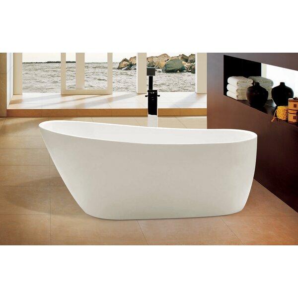 Oval Acrylic 68 x 30.5 Freestanding Soaking Bathtub by Alfi Brand