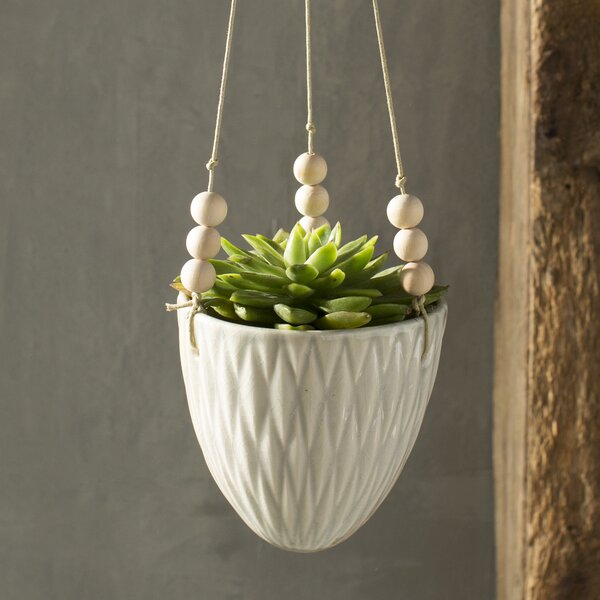 Ashok Round Ceramic Hanging Planter by Birch Lane™
