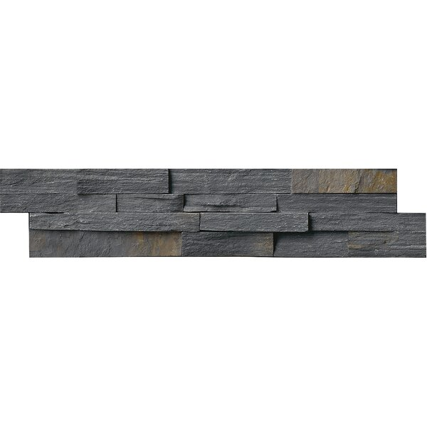 6 x 24 Slate Splitface Tile in Charcoal/Rust by MSI