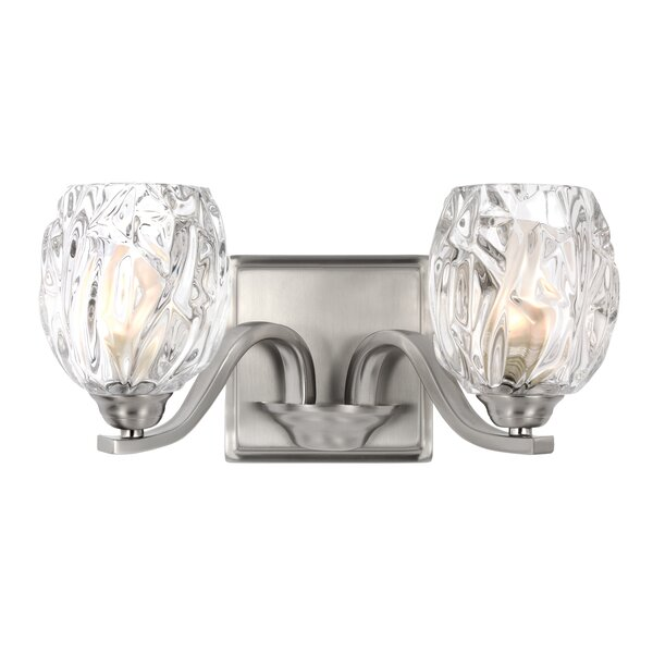 Louisbourg 2-Light Bath Vanity Light by Lark Manor