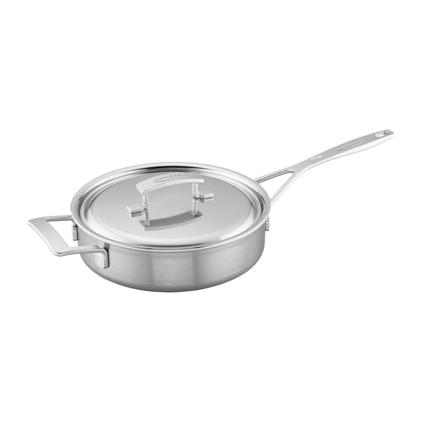 Industry Stainless Steel Saute Pan with Lid by Demeyere