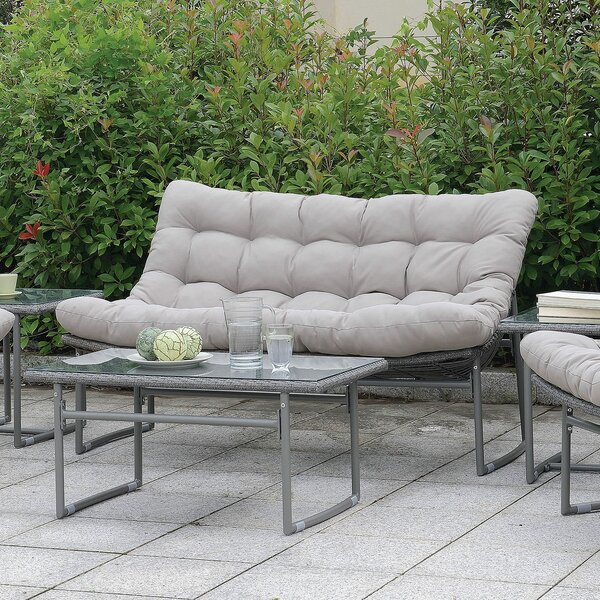 Cermenho Loveseat with Cushions by Ivy Bronx Ivy Bronx