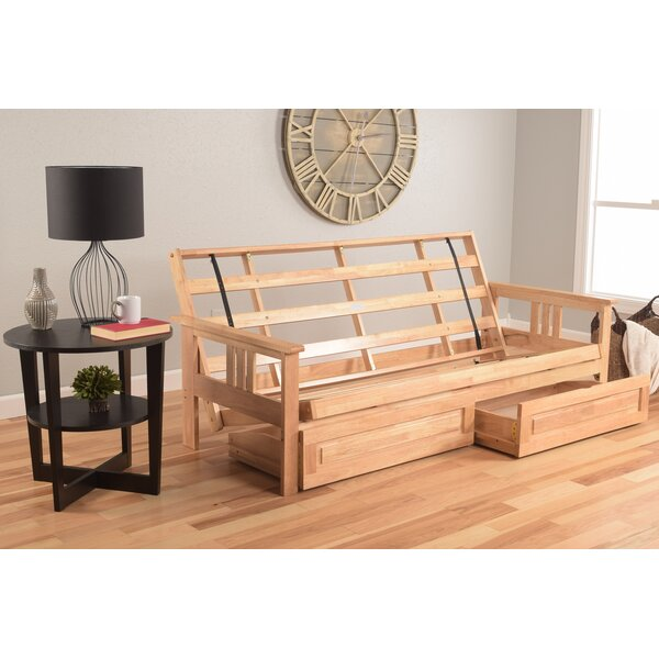 Leavittsburg Futon Frame with Drawers by Red Barrel Studio