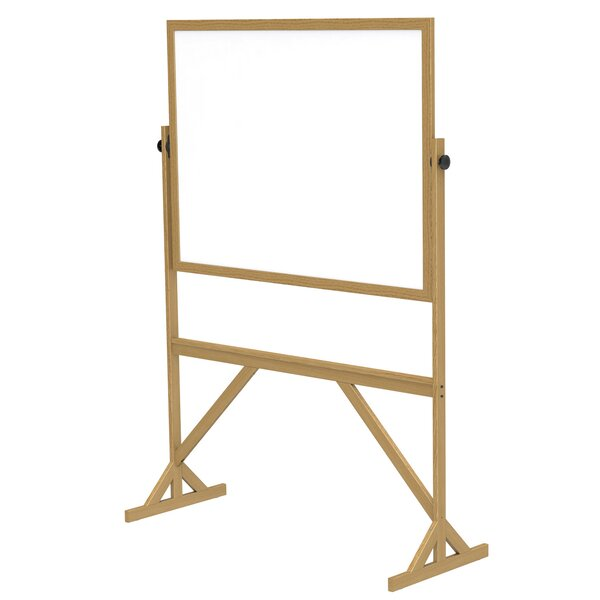 Ghent Reversible Whiteboard with Wood Frame by Ghent