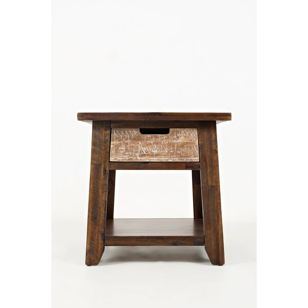 Deandre Bottom Shelf End Table By Millwood Pines by Millwood Pines Sale