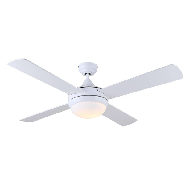 48 Brandes 4 Blade Ceiling Fan with Remote by Mercury Row
