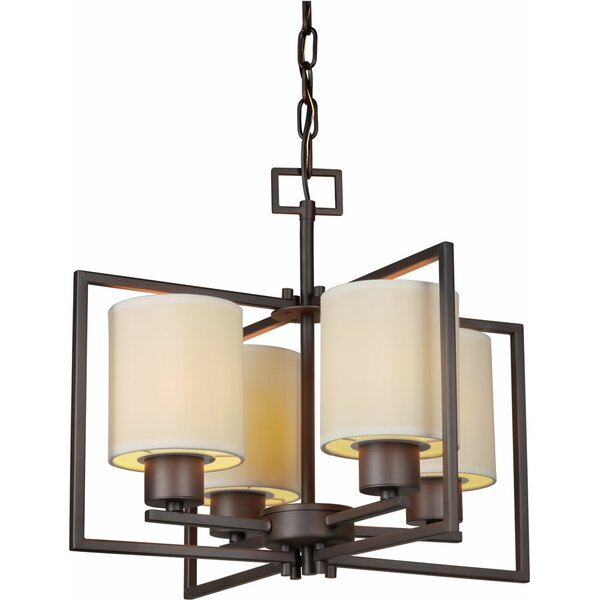 Mcpeters 4-Light Shaded Chandelier by Ebern Designs