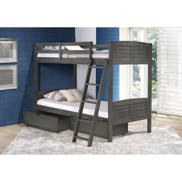 Twin Over Twin Bunk Bed with Dual Storage Drawers by Birch Lane™