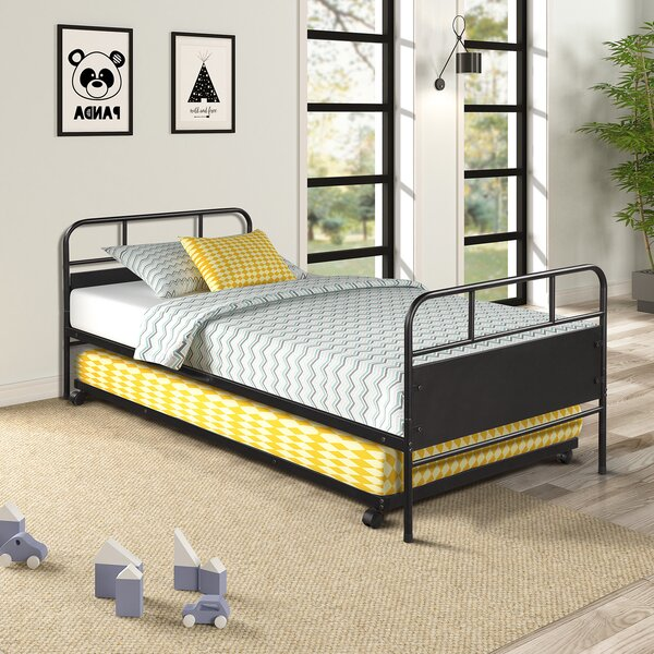Review Tisiphone Platform Twin Daybed With Trundle