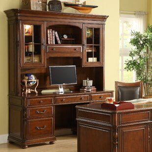 Finnerty Credenza Executive Desk and Chair Set