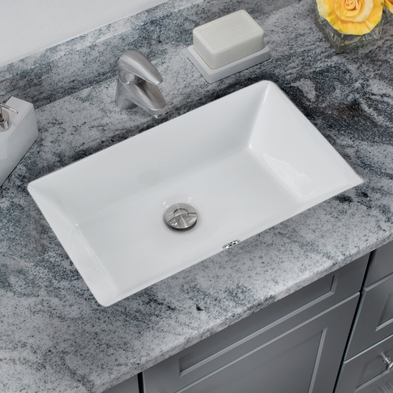 Soleil Glazed Vitreous China Rectangular Undermount Bathroom Sink With Overflow & Reviews