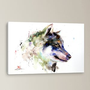 Wolf Painting Print on Wrapped Canvas by Loon Peak