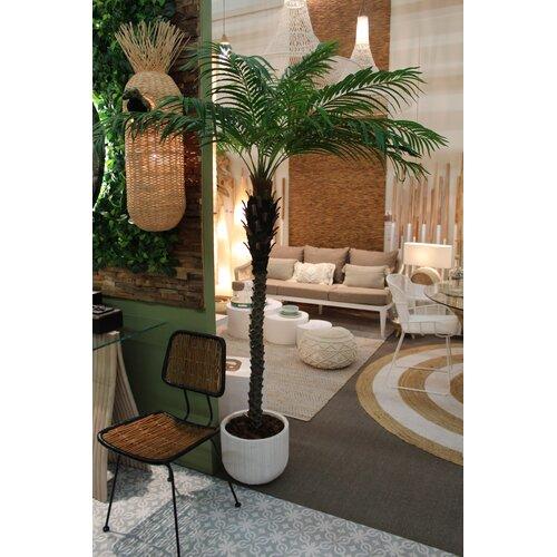 Esprit Vegetal Vertical Palm Tree in Planter Bay Isle Home