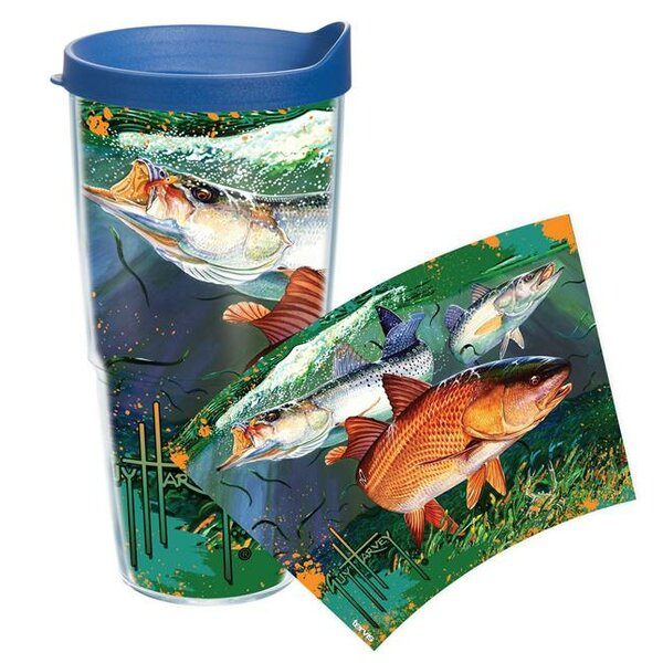 Guy Harvey Redfish Plastic Travel Tumbler by Tervis Tumbler