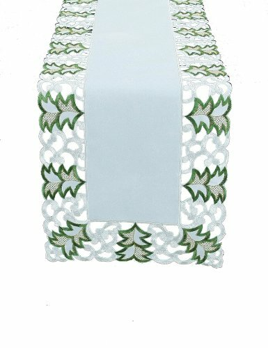 Tannenbaum Embroidered Cutwork Holiday Runner by Xia Home Fashions