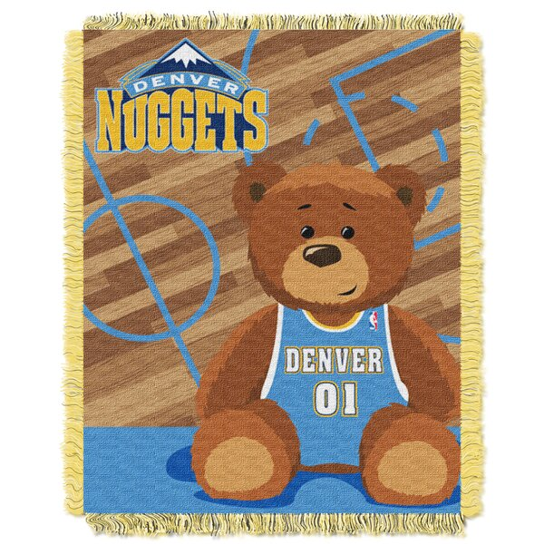 NBA Nuggets Half Court Baby Throw by Northwest Co.