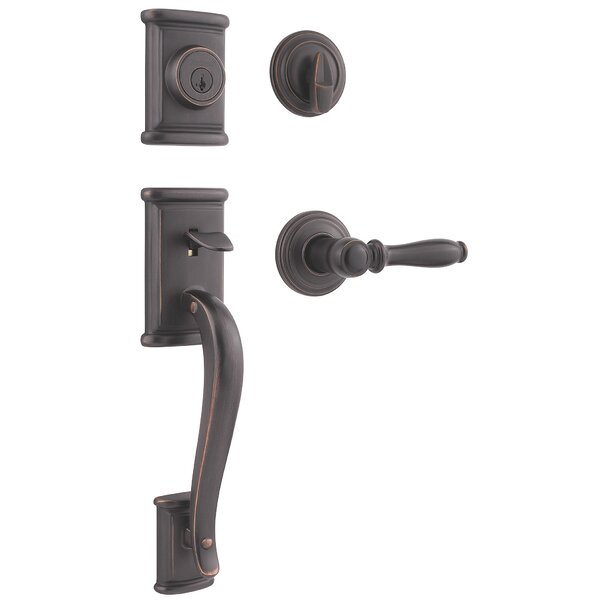 Ashfield Single Cylinder Entrance Handleset by Kwikset