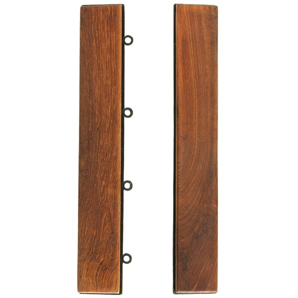 EZ-Floor 1 x 12  End Tile Trim in Teak (Set of 2) by Bare Decor