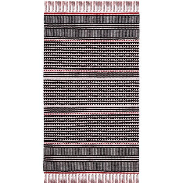 Granada Hand-Woven Red/Gray Area Rug by Wrought Studio