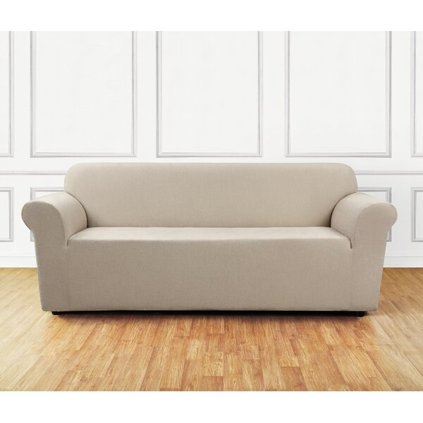 Review Ultimate Stretch Chenille Box Cushion Sofa Slipcover