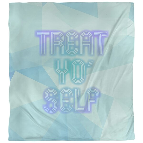 Quotes Self Care Neon Art Single Reversible Duvet Cover