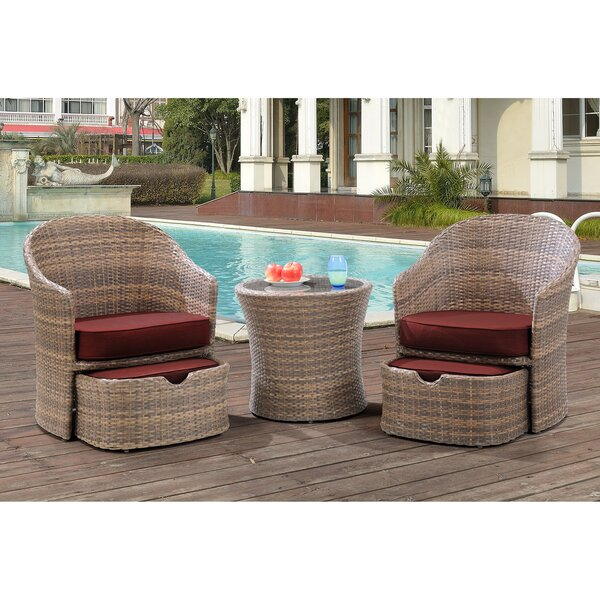 Kiera 5 Piece Conversation Set with Cushions by Highland Dunes