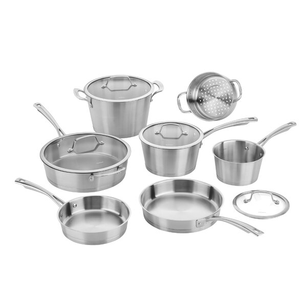 Conical 11-Piece Induction Stainless Steel Cookwar
