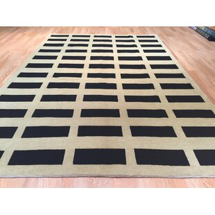 Deals Nepal Hand-Knotted Black/Beige Area Rug ByRug Tycoon