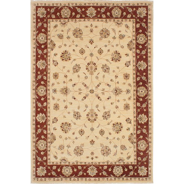 One-of-a-Kind Janyce Hand-Knotted Cream Area Rug by Isabelline