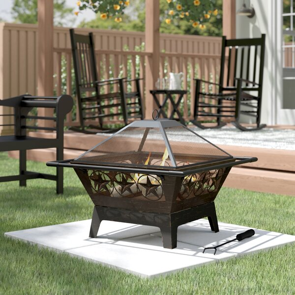 Furtado Steel Wood Burning Fire Pit by August Grove