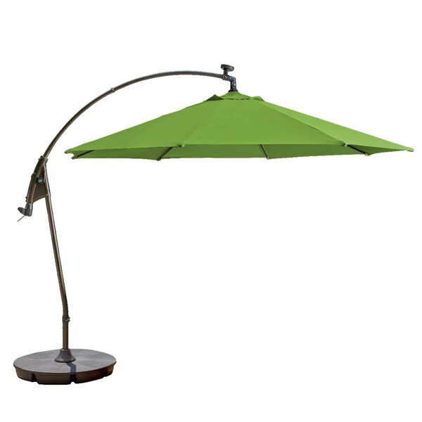 Pottsville Solar Cantilever Sunbrella Umbrella by Freeport Park
